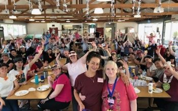 Recovery Camp celebrating Mental Health month with 500th Nursing Student